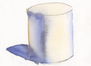 Paint Light and Form On A Simple Cylinder Shape