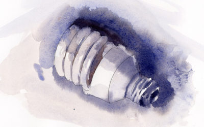 Watercolor Sketch In Shades Of Gray