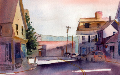 Painting A Street Scene With One Point Perspective