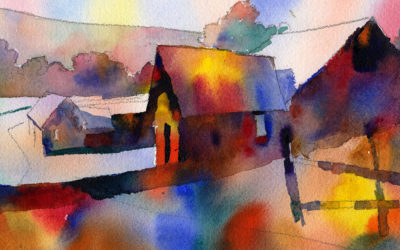 Watercolor Wet In Wet Color Patch Painting Lesson