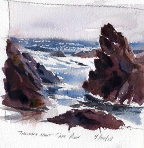 watercolor seascape sketch