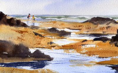 Paint A Beach Scene With Figures