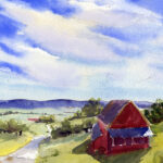 Summer Sky And Open Landscape Watercolor Lesson