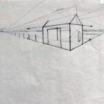 Simple scene in two-point perspective