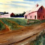 Farm Scene With Morning Light Watercolor Lesson