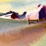 Color Study - Farm In Morning Light